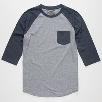 Retrofit End On End Mens Baseball Tee Navy  In Sizes