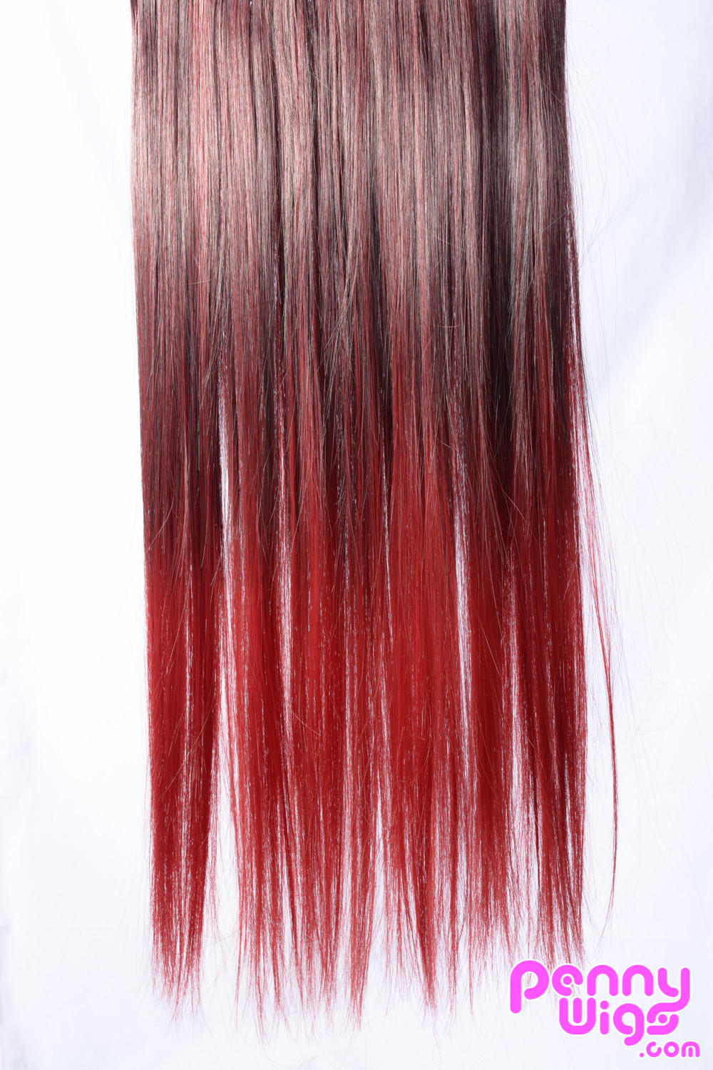 Red Ombr Dip Dye Clip In Hair Extension From Penny Dreads Wigs