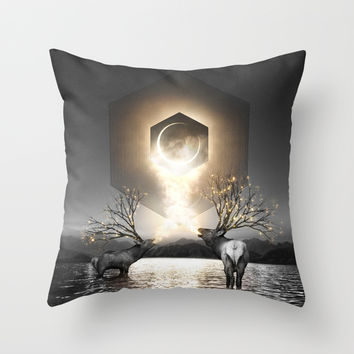 Moon Dust In Your Lungs Throw Pillow by Soaring Anchor Designs