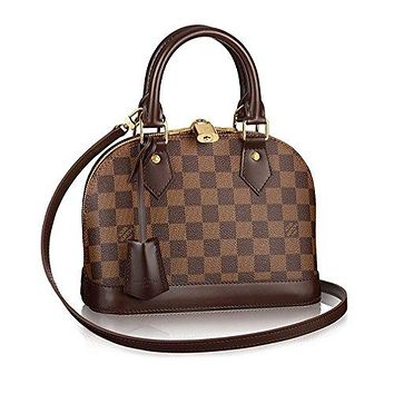 Authentic Louis Vuitton Damier Alma BB Cross Body Handbag Article: N41221 Made in France