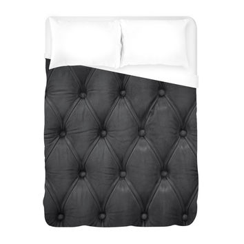 Black Tufted Duvet Cover