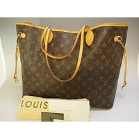Tagre™ AUTHENTIC LOUIS VUITTON NEVERFULL GM LARGE SHOULDER TOTE BAG HANDBAG PURSE LV