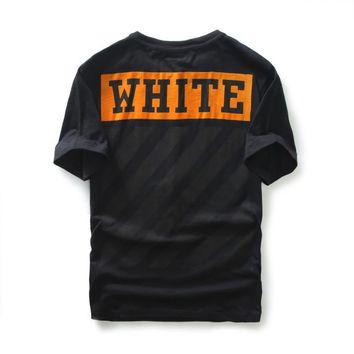 top quality off white Orange box flocked short-Sleeved T-Shirt off white c/o virgil abolh