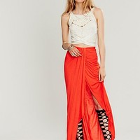 Free People Womens Solid Knit Column Skirt -