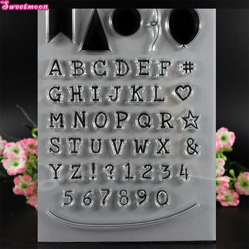 Letters and graphic labels Scrapbook Clear Stamp photo cards account rubber stamp  Embossing Folder card Stamp