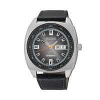 Seiko Men's Leather Automatic Watch - SNKN01