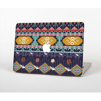 "The Vector Purple and Colored Aztec pattern V4 Skin Set for the Apple MacBook Pro 13"" with Retina Display"