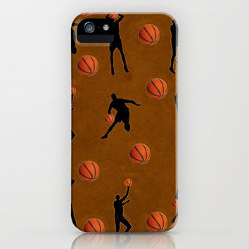 Basketball Pattern  iPhone Case by David Dehner | Society6