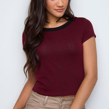 Rani Crop Top - Burgundy