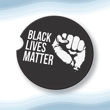 Black lives matter Car Cup Holder Coasters Sandstone (Set of 2)