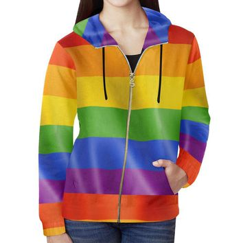 Pride Design 1 Women's All Over Print Full Zip Hoodie