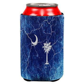 South Carolina Vintage Distressed State Flag All Over Can Cooler