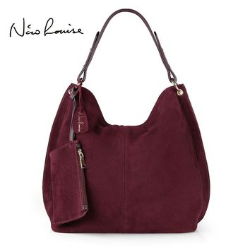 Nico Louise Women Real Split Suede Leather Hobo Bag Design
