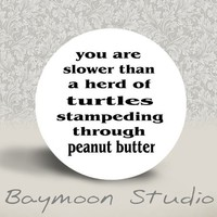 You are Slower than a Herd of Turtles Stampeding by BAYMOONSTUDIO