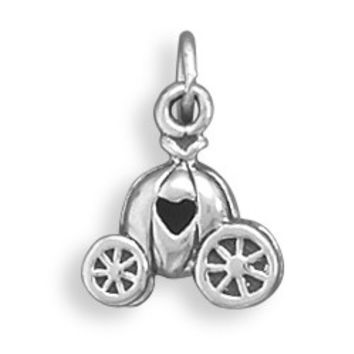 Pumpkin Carriage with Heart Charm