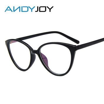 ANDYJOY Vintage Cat Eye Glasses Frame Women Fashion Classic Frame Mirror Female Brand Designer Optical Eyeglasses Oculos de grau