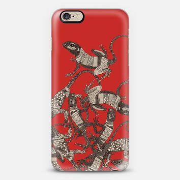 just lizards red iPhone 6 case by Sharon Turner   Casetify