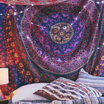 Indian Mandala Tapestries Hippie Wall hanging Bohemian Tapestry Twin Bedspread