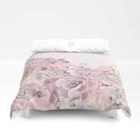 For the girl Duvet Cover by printapix