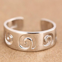 vintage 925 silver hollow out ring men womens gift 34