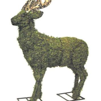 """Deer Topiary Sculpture 18"""", 26"""", and 52""""- Wire Frame or Moss Filled"""