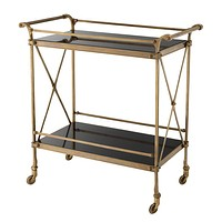 Antique Brass Bar Cart | Eichholtz Aura