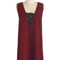 BB Dakota Short Length Sleeveless Shift Meet the Vintner Dress