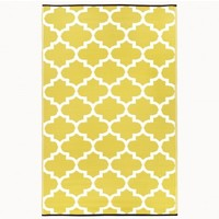 Recycled Plastic Indoor/Outdoor Rug - 3' x 5' Maize Tangier - outdoor living - house & home