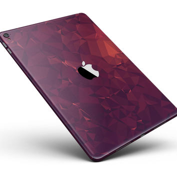 """Red and Burgandy Geometric Shapes Full Body Skin for the iPad Pro (12.9"""" or 9.7"""" available)"""