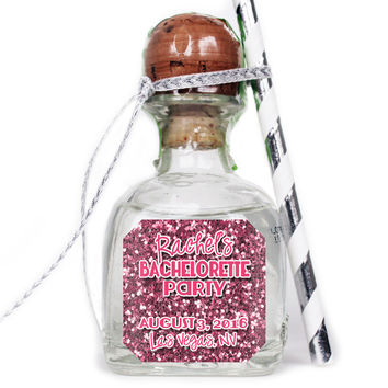 Bachelorette Party Glitter - Wedding Patron Mini Bottle Labels