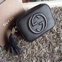 Gucci Women Shopping Fashion Leather Shoulder Bag Crossbody Satchel G