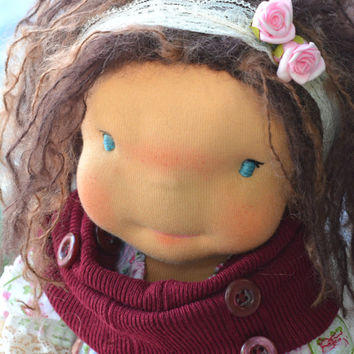 "Waldorf doll, waldorf inspired doll, steiner doll, organic doll, 20"" tall doll, fabric doll, cloth doll, handmade, FREE SHIPPING"