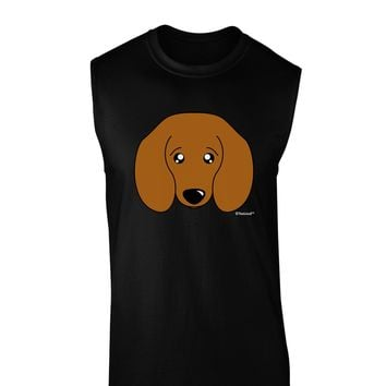 Cute Doxie Dachshund Dog Dark Muscle Shirt  by TooLoud