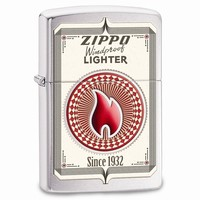 Zippo Zippo Trading Cards Brushed Chrome Lighter