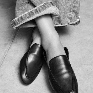 Leather moccasin - Women | MANGO United Kingdom