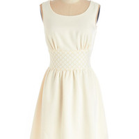 ModCloth Vintage Inspired Mid-length Sleeveless A-line Subtly Sparkling Dress