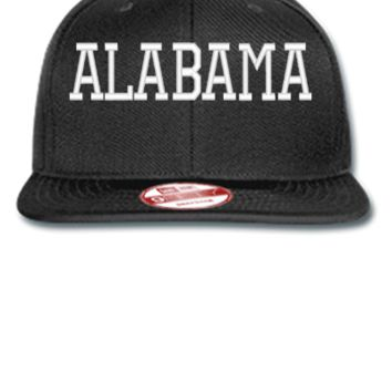ALABAMA EMBROIDERY HAT  - New Era Flat Bill Snapback Cap