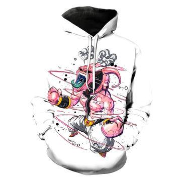 Super Buu Dragon Ball Z White Hoodie