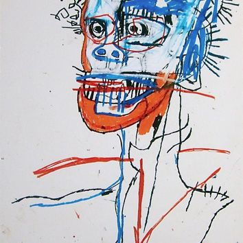 Head of Madman, Giclee Print, Jean-Michel Basquiat