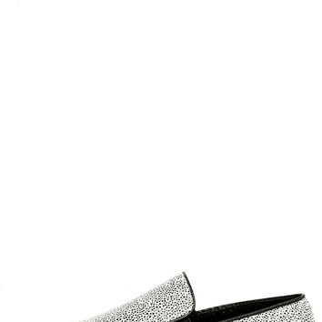 Step to It Black and White Slip-On Sneakers