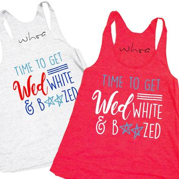 Wed, White, and Boozed Tank
