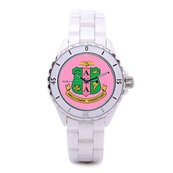 Alpha Kappa Alpha Sorority Boyfriend Watch - White