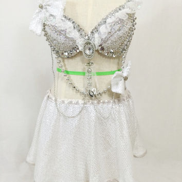 White Wonderland Party dance wear / dance costume / EDM / TomorrowWorld