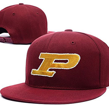 XINMEN Purdue Boilermakers Logo Adjustable Snapback Caps Embroidery Hats - Red