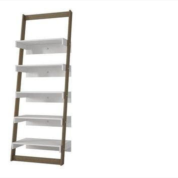 Carpina Ladder Shelf White and Oak