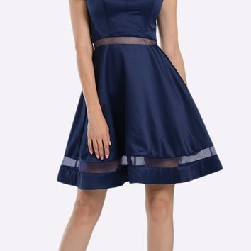 A-line Strapless Homecoming Dress Sweetheart Neckline Navy Blue