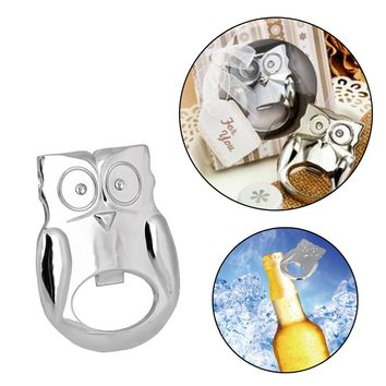 Owl Shape Bottle Can Opener Wrench for Beer Bottle Wine Kitchen Gadgets Stainless Steel Cooking Tools
