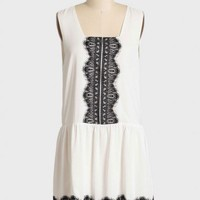 gatsby lace drop waist dress in white at ShopRuche.com