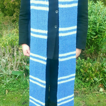 Harry Potter Ravenclaw knitted scarf - 8 ft long