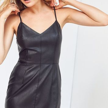Silence + Noise Faux Leather Mini Dress | Urban Outfitters
